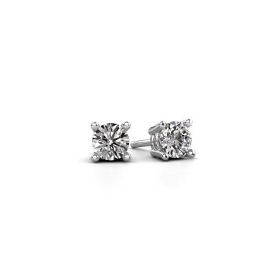 Foto van Oorstekers Jannette 375 witgoud diamant 0.50 crt