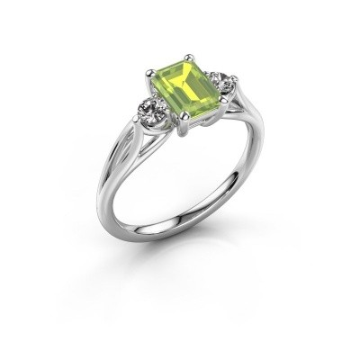 Picture of Engagement ring Amie EME 925 silver peridot 7x5 mm