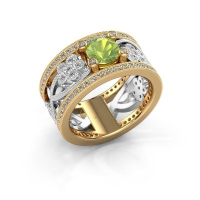 Ring Severine 585 goud peridoot 6 mm