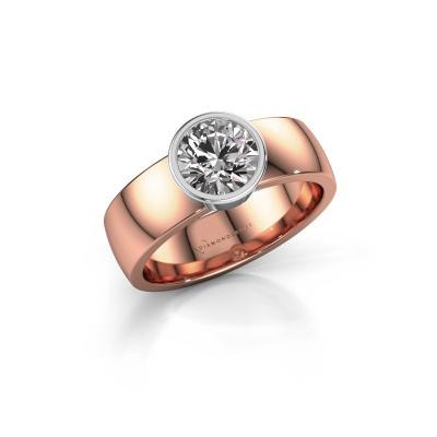 Ring Ise 1 585 rose gold diamond 1.00 crt
