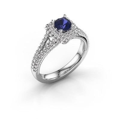 Picture of Engagement ring Annette 585 white gold sapphire 5 mm