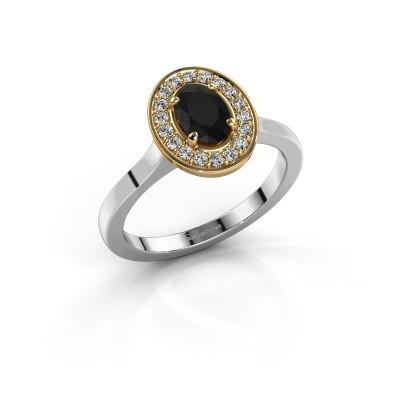 Foto van Ring Madelon 1 585 witgoud zwarte diamant 1.14 crt