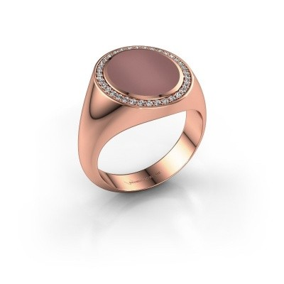 Zegel ring Adam 3 375 rosé goud carneool 13x11 mm
