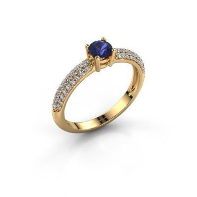 Foto van Ring Marjan 375 goud saffier 4.2 mm