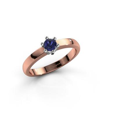 Engagement ring Luna 1 585 rose gold sapphire 3.7 mm