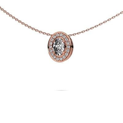 Foto van Ketting Madelon 375 rosé goud diamant 0.680 crt