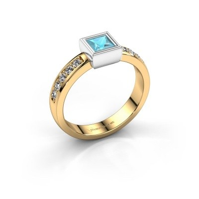 Picture of Ring Aimee 2 585 gold blue topaz 4 mm