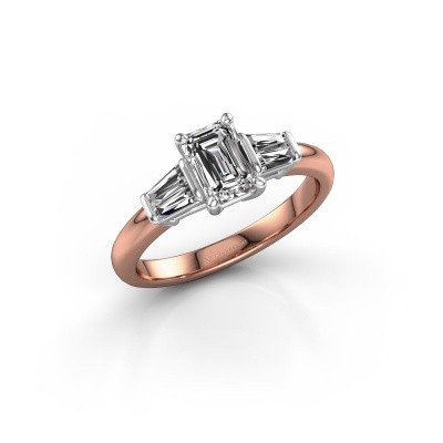 Picture of Engagement ring Kina EME 585 rose gold lab-grown diamond 1.22 crt