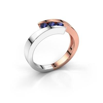 Foto van Ring Gracia 585 rosé goud saffier 2.7 mm