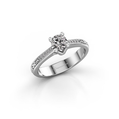 Foto van Verlovingsring Mei 950 platina lab-grown diamant 0.449 crt