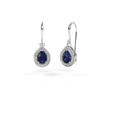 Picture of Drop earrings Beverlee 1 950 platinum sapphire 7x5 mm