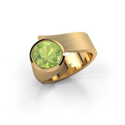 Ring Nakia 585 goud peridoot 8 mm