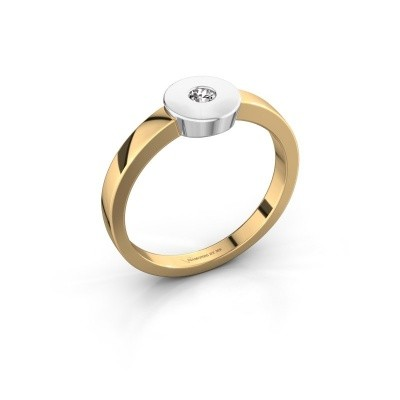 Bague Elisa 585 or jaune diamant 0.10 crt