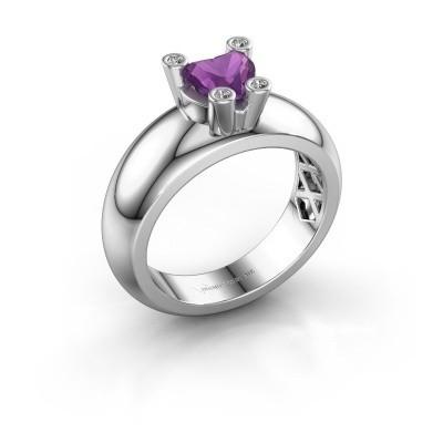 Ring Cornelia Heart 925 Silber Amethyst 6 mm