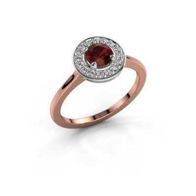 Ring Agaat 1 585 rosé goud granaat 5 mm