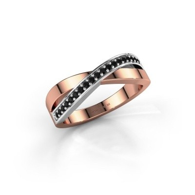 Picture of Ring Kaley 585 rose gold black diamond 0.17 crt