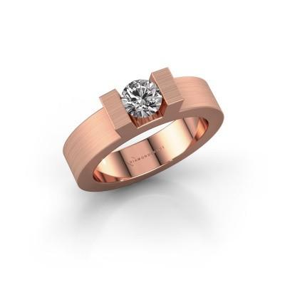 Foto van Ring Leena 1 375 rosé goud zirkonia 5 mm