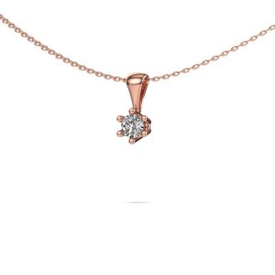 Foto van Ketting Fay 375 rosé goud diamant 0.30 crt