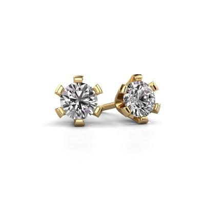 Oorstekers Shana 375 goud diamant 0.50 crt
