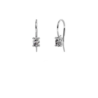 Photo de Pendants d'oreilles Cleo 375 or blanc diamant 1.00 crt