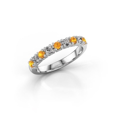Engagement ring Rianne 9 585 white gold citrin 2.4 mm