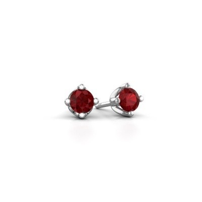 Picture of Stud earrings Briana 585 white gold ruby 3.7 mm