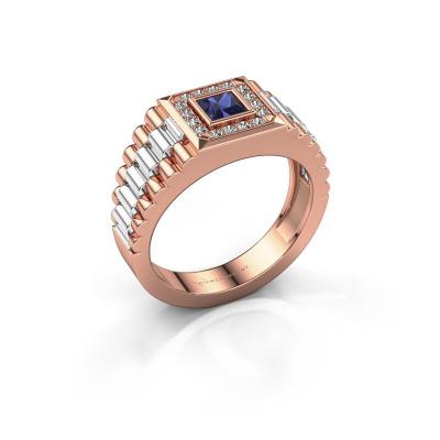 Foto van Heren ring Zilan 585 rosé goud saffier 4 mm