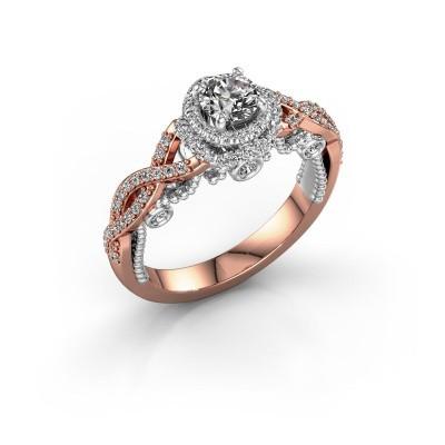 Verlobungsring Leora 585 Roségold Diamant 0.83 crt