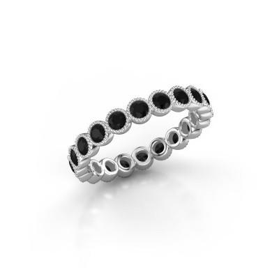 Foto van Ring Mariam 0.05 950 platina zwarte diamant 1.32 crt