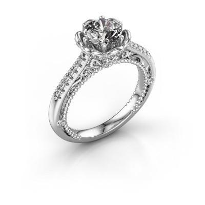 Foto van Aanzoeksring Abbey 585 witgoud diamant 1.277 crt