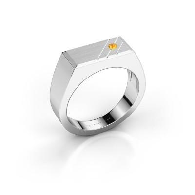 Herrenring Dree 5 585 Weißgold Citrin 2.4 mm