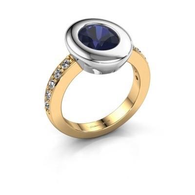 Ring Selene 2 585 gold sapphire 9x7 mm