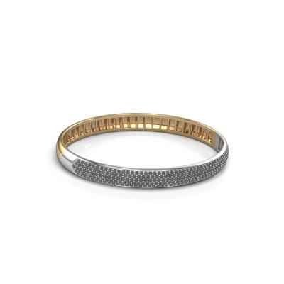 Slavenarmband Emely 7mm 585 goud zwarte diamant 2.416 crt