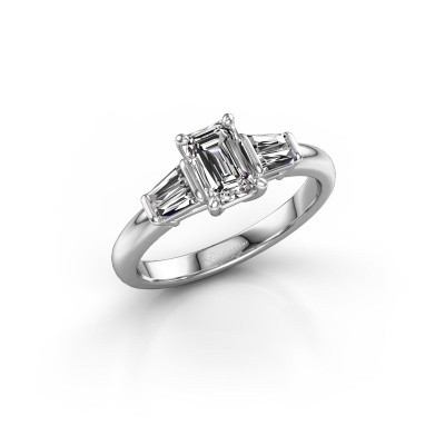Foto van Verlovingsring Kina EME 950 platina diamant 1.22 crt