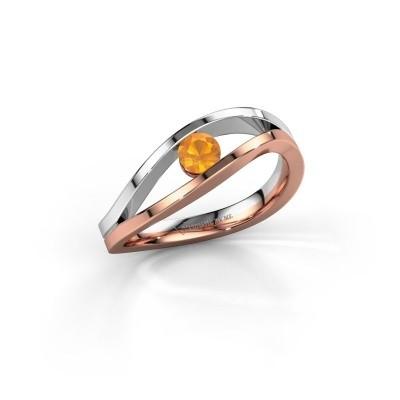 Engagement ring Sigrid 1 585 rose gold citrin 3.7 mm