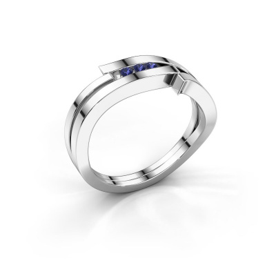 Ring Amelie 585 white gold sapphire 1.7 mm