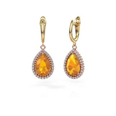 Picture of Drop earrings Hana 1 585 rose gold citrin 12x8 mm