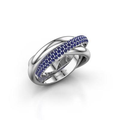Ring Trinity 2 925 Silber Saphir 1 mm