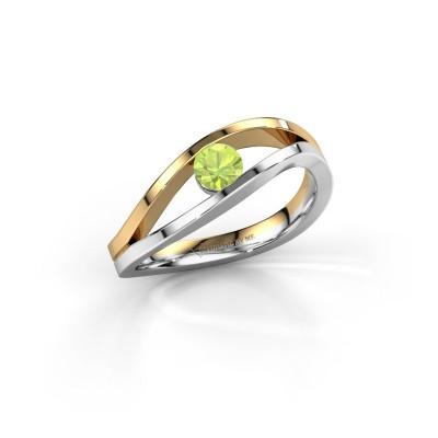Bild von Ring Sigrid 1 585 Weißgold Peridot 4 mm