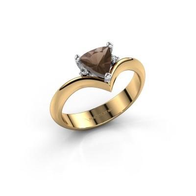 Foto van Ring Arlette 585 goud rookkwarts 7 mm