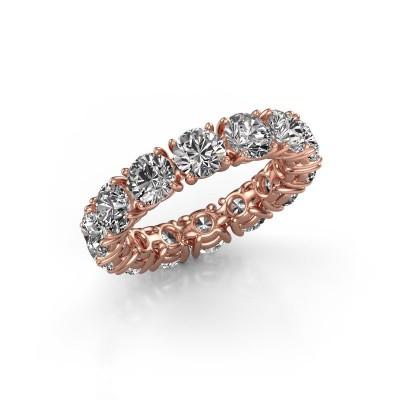 Photo de Bague Vivienne 4.7 375 or rose diamant synthétique 5.60 crt