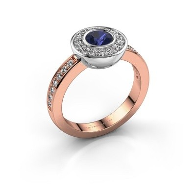 Ring Ivy 585 Roségold Saphir 5 mm