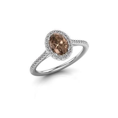 Engagement ring Seline 2 950 platinum brown diamond 1.081 crt