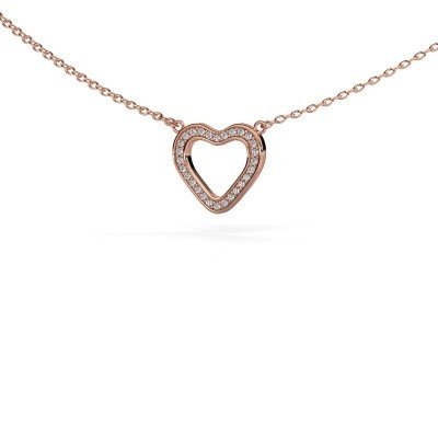 Foto van Hanger Heart 3 375 rosé goud lab-grown diamant 0.07 crt