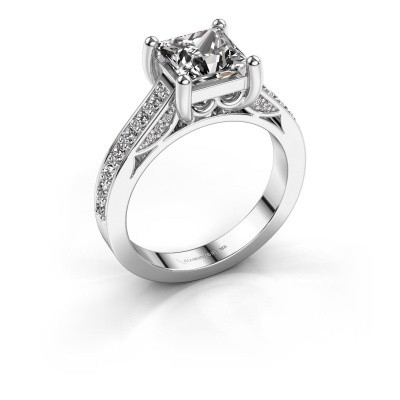 Verlovings ring Feline 585 witgoud diamant 1.70 crt