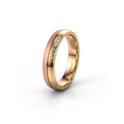 Wedding ring WH0216L24APM 585 gold diamond ±0.16x0.07 in