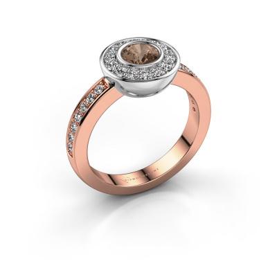 Bague Ivy 585 or rose diamant brun 0.920 crt