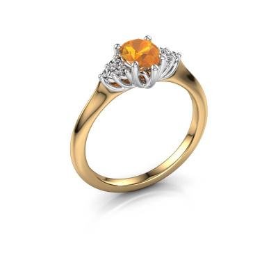 Verlovingsring Felipa per 585 goud citrien 7x5 mm