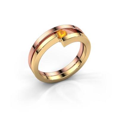 Bild von Ring Nikia 585 Roségold Citrin 3.4 mm