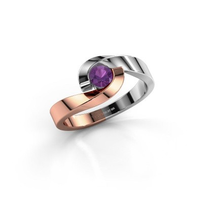 Picture of Ring Sheryl 585 rose gold amethyst 4 mm